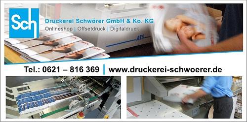 Druckmaschinen der Druckerei Schwörer GmbH & Co. KG Mannheim