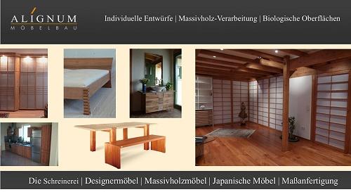 ALIGNUM Möbelbau & Schreinerei Mannheim, wir fertigen individuelle Designermöbel, Massivholzmöbel und Japanische Möbel