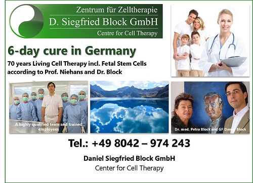 Centre for living cell therapy, Swiss cell therapy, Anti aging therapy