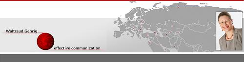 Waltraud Gehrig - Ihr professioneller Partner für Training, Beratung und Coaching im Kommunikationsbereich